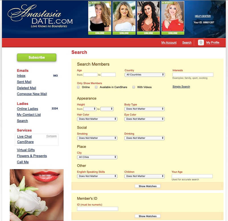 anastasiadate advanced search