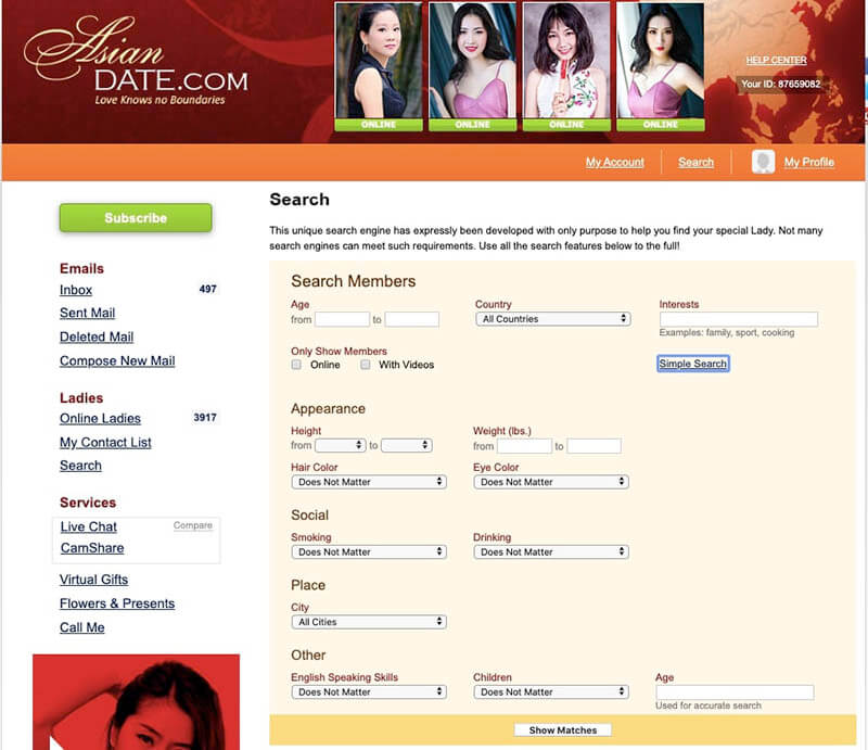 asiandate advanced search