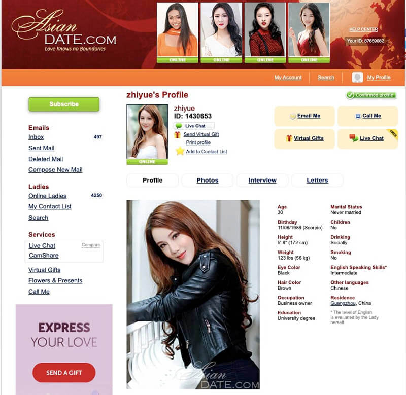 asiandate profile